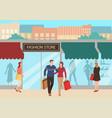 couple shopping vector image