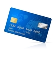Credit Card blue icon Isolated on white vector image vector image