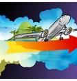 Departure arrival card vector image