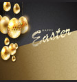 design of a dark shade with eggs of gold color vector image vector image
