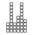 equalizer icon outline style vector image