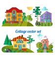 flat houses vector image vector image
