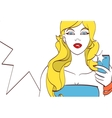 girl doing selfie Beautiful drawing vector image vector image