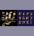 gold numbers ribbon vector image vector image