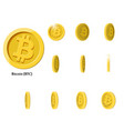 gold rotate bitcoin frames vector image vector image