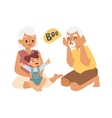 Grandfather grandmother and granddaughter vector image vector image