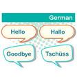 greeting words in german languange vector image vector image