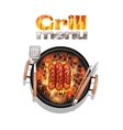 Grill Menu Design vector image