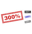 grunge 300 percent textured rectangle watermarks vector image vector image