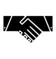 handshake icon symbol vector image vector image