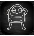 Happy Alien Drawing on Chalk Board vector image vector image