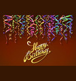 happy birthday sign design background birthday vector image vector image