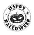 happy halloween stamp vector image vector image