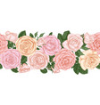 horizontal seamless background with pink roses vector image vector image