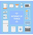 iot internet things innovative technology vector image