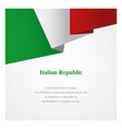italy insignia template vector image
