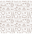 jewelry seamless pattern line vector image vector image