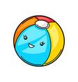 kawaii cute ball vector image