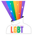 lgbt history month square vector image vector image
