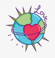 love and hearts cartoons vector image