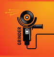 manual angle grinder image vector image