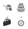 mine cooking and other monochrome icon in cartoon vector image vector image