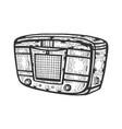 old radio receiver device sketch engraving vector image vector image