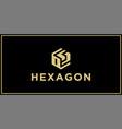 os hexagon logo design inspiration vector image vector image