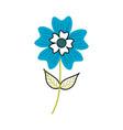 periwinkle flower petal leaves stem nature plant vector image