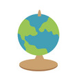 planet earth map icon image vector image vector image