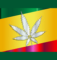 rastafarian flag and leaf vector image