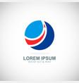 round arrow business company logo vector image vector image