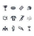 rugor american football icons vector image vector image