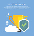 safety protection concept the best vector image