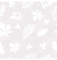 seamless pattern of white autumn leaves on vector image vector image