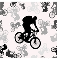 seamless pattern with bikers silhouettes vector image vector image