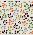 seamless pattern with leaf botanical backdrop vector image vector image