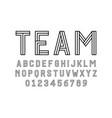 set alphabets font modern design with lines vector image vector image