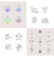 set of abstract linear logos vector image vector image