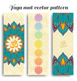 set of yoga mat om and chakra pattern vector image vector image