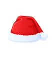 set red santa claus hat new year cap vector image