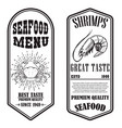 set seafood flyers with shrimp and crab vector image vector image