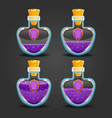 shield bottles with different liquid level vector image vector image
