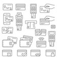 simple set of credit card related line icons vector image vector image