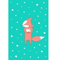 Snow Fox vector image vector image