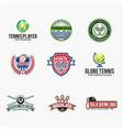 sports logo badges 1 vector image vector image
