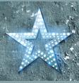 star retro light banner vector image vector image