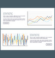 statistic web pages charts and infographics set vector image vector image