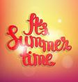 Summer bokeh background vector image