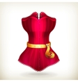 Tape measurement and red dress vector image vector image